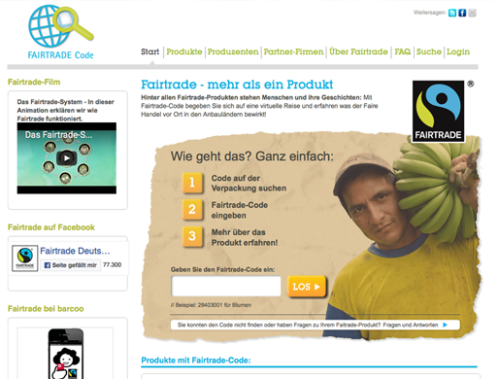 Screenshot Fairtrade Code