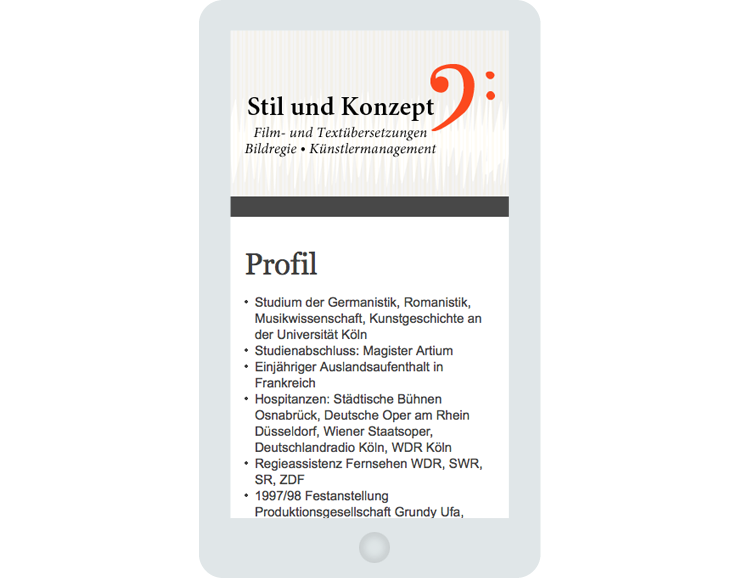 Screen Stil & Konzept 2